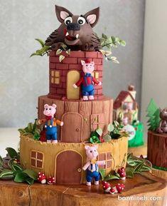 ایده های ناب برای جشن شما 2nd Birthday Parties, 4th Birthday, Birthday Party Decorations, Unique Cakes, Creative Cakes, Beautiful Cakes, Amazing Cakes, Rodjendanske Torte, Funny Cake