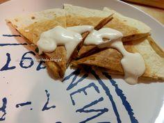 Domowa, szybka quesadilla z pieczarkami | chaotyczna-kuchnia