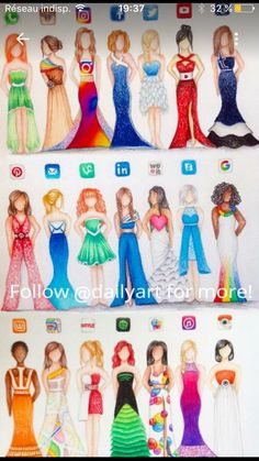 art desenho Images for humanized social media - art Disney Kunst, Art Disney, Disney Logo, Disney Stuff, Dress Drawing, Drawing Clothes, Drawing Style, Fashion Design Drawings, Fashion Sketches