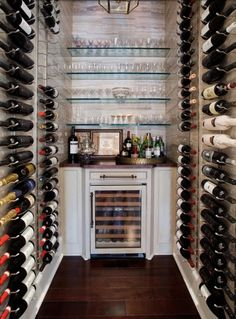 wine/drinks alcove - what a great idea