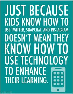 Kids and Technology. #digcit