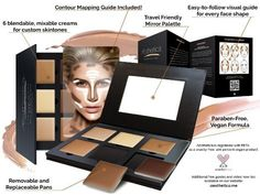 Aesthetica Cosmetics Cream Countour Highlighting Makeup Beauty Foundation Kit