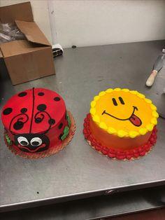 Round Birthday Cakes, Birthday Sheet Cakes, Round Cakes, Cake Icing, Buttercream Cake, Eat Cake, Spring Cake, Summer Cakes, Mini Cakes
