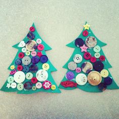 altogether beautiful: Learning at Home: Button Tree Ornaments