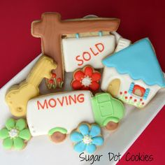 Sugar Dot Cookies: New House Sugar Cookies with Royal Icing