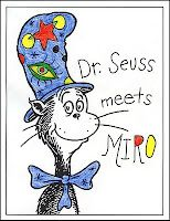Dr. Seuss meets (miro, picasso, van gogh etc) students desgin hat based on artist/style!