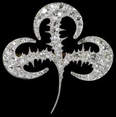 1895 / Brooch / This brooch was designed by Lalique, but actually produced by Tiffany & Co. as Lalique preferred not to work with diamonds.