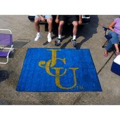 John Carroll Blue Streaks 5X6ft Indoor/Outdoor Tailgate Area Rug/Mat/Carpet