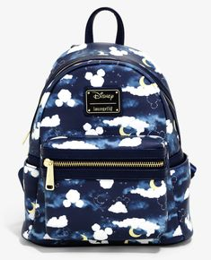 Loungefly Disney Mickey Mouse Clouds Mini Backpack - BoxLunch Exclusive, Source by Pretty Backpacks, Cute Mini Backpacks, Mochila Jeans, Disney Purse, Disney Merchandise, Disney Mickey Mouse, Mickey Mouse Clothes, Cute Bags, Disney Outfits