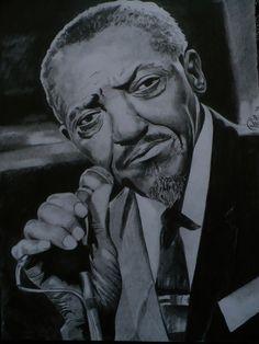 Artysta Bluesowy Sonny Boy Williamson. Rysunek ołówkiem, format A4.