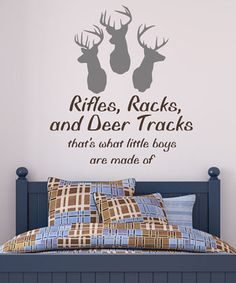 Another great find on #zulily! Deer Heads Wall Decal Set by DecorDesigns #zulilyfinds