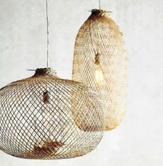 The Best In Woven Lighting: Roost Chedi Bamboo Pendants