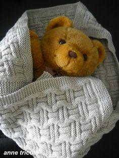 couverture bébé garçon Iliade couleur lin de Phildar (4)