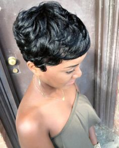 Best Ideas For Short Haircuts : Beautiful cut Hello.lyssa Read the article here blackhairinformat Short Sassy Hair, Short Hair Cuts, Pixie Cuts, Short Pixie, Dope Hairstyles, Cute Hairstyles For Short Hair, Hairstyles 2016, Stylish Hairstyles, Natural Hair Twists