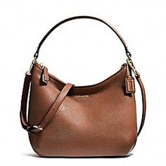 Coach :: MADISON TOP HANDLE POUCH IN LEATHER