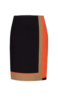 TANGELO navy, orange, and buff skirt  | Carlisle Spring 2014 Collection