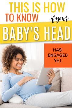 If you are in your third trimester of pregnancy then you will likely be wondering when your baby will become engaged in your pelvis. Find out when that happens and the signs that your baby has already engaged. #thirdtrimester #pregnancy #pregnant #pregnancytips