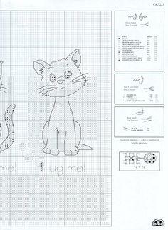 Três gatinhos amigos para bordar em ponto Cruz   Gráficos de Ponto Cruz