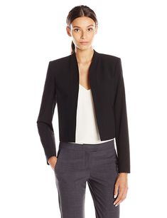 b56f5379 Lark & Ro Women's Short Blazer, Black, 12 at Amazon Women's Clothing store: