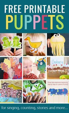 Free printable puppets - loads of different printable puppets to go with songs and stories and just for fun! Free printable puppets - loads of different printable puppets to go with songs and stories and just for fun! Preschool Songs, Preschool Printables, Preschool Classroom, Free Printables, Movement Activities, Toddler Activities, Activities For Kids, Animal Activities, Therapy Activities