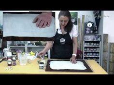 Pindar un fondo de papel en tabla de madera - YouTube