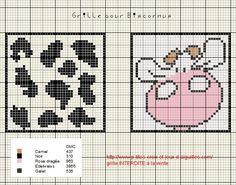 A la demande de Dauphine89000, voici une grille pour réaliser un biscornus :