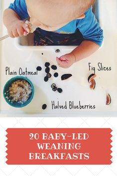 20 Baby-Led Weaning Breakfast Ideas | Great for toddlers and big kids too! | www.kiwiandbean.com