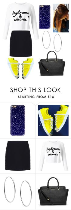 """""""💛🔝"""" by camille-hnq ❤ liked on Polyvore featuring Casetify, Balenciaga, Miss Selfridge and Michael Kors"""