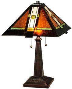 "Meyda Tiffany 132673 24""H Montana Mission Table Lamp"