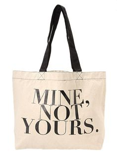 carrying this bag means you carry this simple but strong meaning