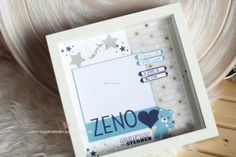 Newborn Baby Rahmen - personalisiertes Geschenk zur Geburt Foto Sterne