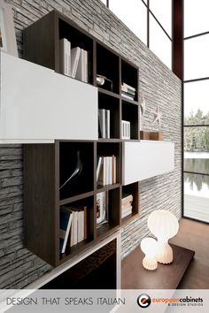 Living room cabinets designed for an open concept kitchen and great room.