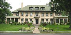 Boston-Edison neighborhood, Detroit.  Benjamin Siegel home, blt. 1915.  Designed by: Albert Kahn.  13,000 sq. ft.