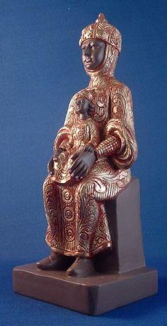 black madonna statue | Black Madonna des Neiges Statue (France)