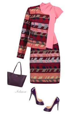 """Sem título #388"" by soleuza ❤ liked on Polyvore featuring Maje, Topshop, Christian Louboutin and GiGi New York"