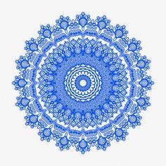 Neu in meiner Galerie bei OhMyPrints: Mandala blau IV