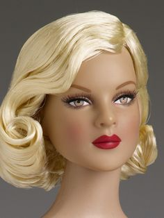 "$134.99 - DeeAnna Denton All Vintage Basic  doll  Face includes hand-painted details  Fine quality vinyl and hard plastic  DeeAnna Denton™ head sculpt  16"" curvaceous body  Brown painted eyes with applied eyelashes  Pale blonde removable saran wig  Tyler skin tone  Light purple teddy with ruffle trim and garters  Nude pantyhose  Purple molded plastic shoes  LE 500"