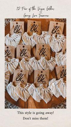 Rope Crafts, Diy Crafts Hacks, Yarn Crafts, Diy And Crafts, Macrame Knots, Macrame Jewelry, Diy Jewelry, Macrame Earrings Tutorial, Diy Earrings