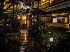 "Rainy night in the garden of ""Charyo Ichimatsu"" (http://www.ichimatsu.co.jp/) one of Asakusa's premier spots for wafu (classic Japanese style) dining. Taken on March 5, 2014. © Grigoris A. Miliaresis"