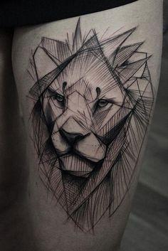 Kamil Mokot lion tattoo