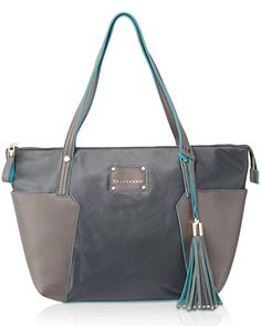 BIG BUDDHA Tessa Tote Bag Grey One Size *** Read more reviews of the product by visiting the link on the image.