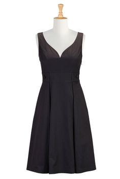1d4c0237cd Sweetheart cotton poplin dress Poplin Dress