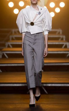 High Waisted Button Back Trousers by JACQUEMUS for Preorder on Moda Operandi