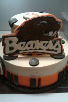 oregon state university cakes - beavers