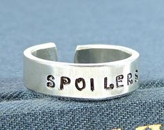 NEED!!! Spoilers - Doctor Who - TARDIS - Adjustable Aluminum Ring