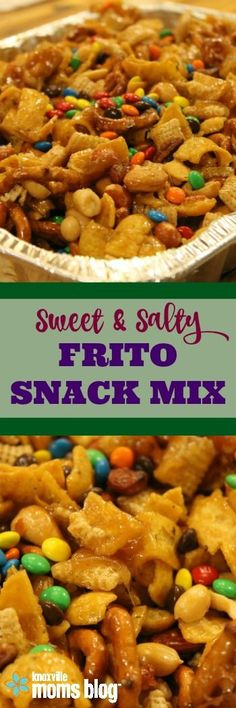 Sweet & Salty Frito Snack Mix for Game Day | Cheer on your favorite team with a batch of this addictive snack.