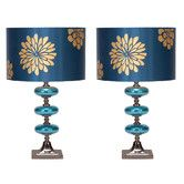 """Found it at Wayfair - Casa Cortes 23"""" Table Lamp with Drum Shade"""