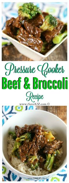 Easy Pressure Cooker Beef and Broccoli Recipe that is a CINCH to make! I can see why this recipe is so popular! Easy Pressure Cooker Beef and Broccoli Recipe that is a CINCH to make! I can see why this recipe is so popular! Crock Pot Recipes, Beef Recipes, Healthy Recipes, Chicken Recipes, Beef Tips, Bariatric Recipes, Healthy Food, Sausage Recipes, Mexican Recipes