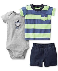 df6722a55e4 Carter s Baby Boys  3-Piece Short-Sleeved Tee