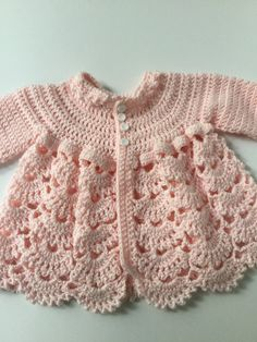 Your place to buy and sell all things handmade : Baby girl sweater and hat, pink baby girl sweater, baby sweater, sweater hat booties by TheNanimalShop on Etsy Crochet Baby Jacket, Crochet Baby Sweaters, Baby Girl Sweaters, Baby Afghan Crochet, Baby Girl Crochet, Crochet Baby Clothes, Crochet Fall, Baby Knitting Patterns, Baby Patterns
